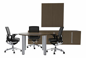 New Verde 47 Modern Round Meeting Conference Room Side Office Table