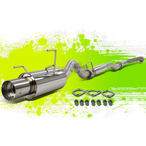 Acura Rsx Base l 2 0l Stainless Steel Catback Exhaust System 4 0 Muffler Tip