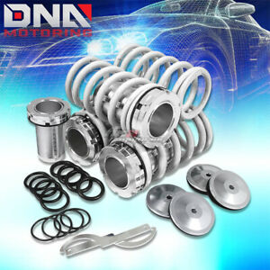 Adjustable 1 4 Scale Suspension White Coilover Lowering Spring 88 00 Civic dc2