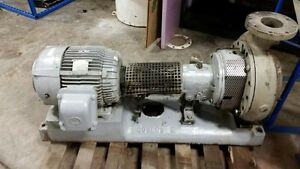 Goulds Pump Model 3196 Size 4x6 13 316 Stainless Steel Mounted W Motor
