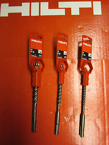 Hilti Te cx Hammer Drill Bits 3pc Set 1 4 3 8 3 16 Sds Plus Fast Shipping