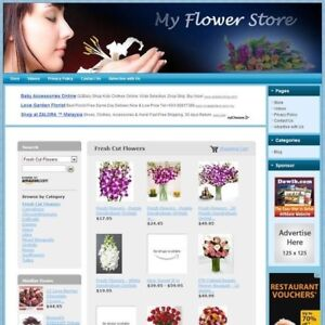 Flower Florist Store Professionally Designed Affiliate Website free Hosting