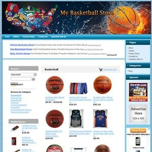 Nba Basketball Store Make Money Turnkey affiliate Website Free Domain hosting