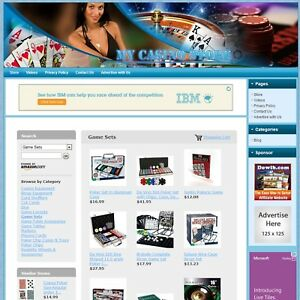 Casino Store Premium Theme Ready to go Website Amazon Affiliate Business