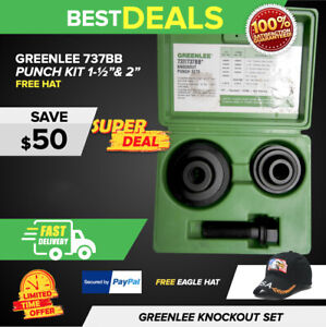 Greenlee 737bb Knockout Punch Kit 1 1 2 And 2 Preowned Fast Ship
