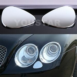 Us Stock Headlight Jet Washer Covers For Bentley Continental Gt Gtc Flying Spur
