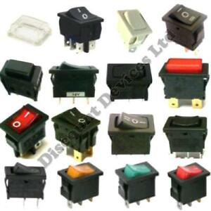 Push Momentary Latching On off On off on Rocker Switches Waterproof Cover