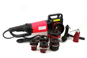 Hd 2000w 1 2 2 Portable Electric Pipe Threader W 6 Dies Threading Machine