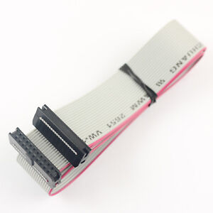 20pcs 2mm Pitch 2x10 Pin 20 Pin 20 Wire Idc Flat Ribbon Cable Length 40cm
