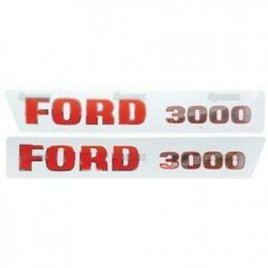 New Ford 3000 Hood Decal Set