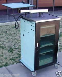 Medical Security Enclosed Av Utility Cart Station W Locking Doors And Casters