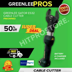 Greenlee Gator Es32 Cable Cutter Preowned In Mint Condition Fast Shipping