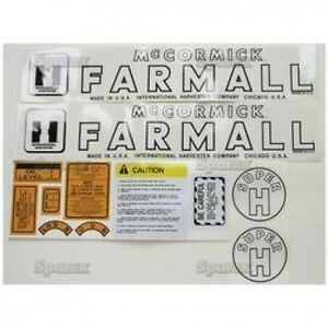 New Farmall Decal Set For Models Super H