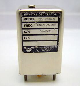 Vectron Laboratories 229 7730 5 Crystal Oscillator 100mhz