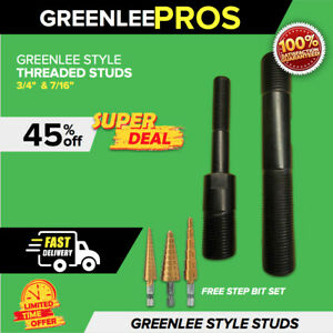 Greenlee Style Threaded Studs 3 4 7 16 Hydraulic Knockout Punch Fast Ship