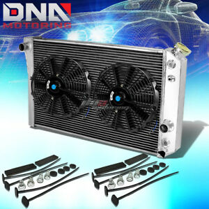 84 90 Chevy Corvette 5 7 L83 S10 V8 3 Row Full Aluminum Racing Radiator X2 Fan