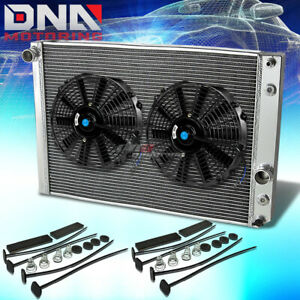 91 96 Chevy Corvette 5 7 L98 Lt1 V8 3 Row Full Aluminum Racing Radiator X2 Fan