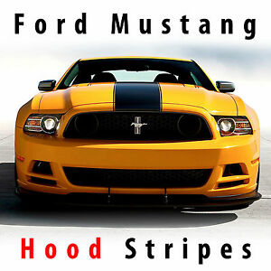 Ford Mustang 2013 14 Boss Hood Center Racing Stripes Rally Stripe Pre cut Decal