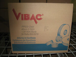 36 Rolls Vibac 3 0 Mil 2 Clear Packaging Tape New Item