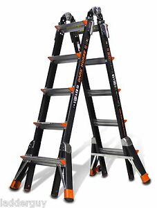 22 1a Fiberglass Little Giant Dark Horse Ladder W platform 15145