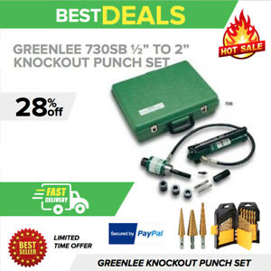 Greenlee 7306sb 1 2 To 2 Slug buster Ram And Hand Pump Hydraulic Driver