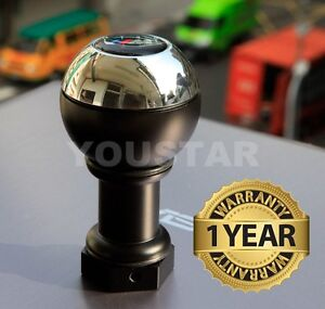 Us Stock Weighted Chrome Short Throw Manual Shift Gear Knob For Bmw 5