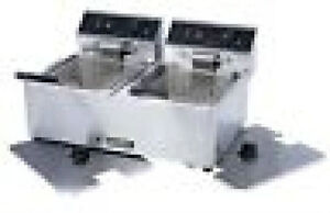 Adcraft Double Fryer Electric Df6l 2 With Lids Excellent Value