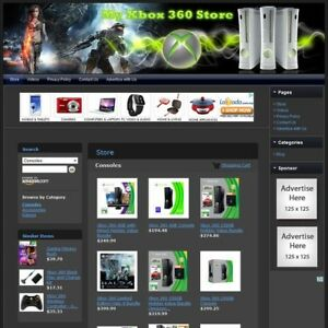 Microsoft Xbox 360 Console Video Game Store Amazon adsense dropship Website