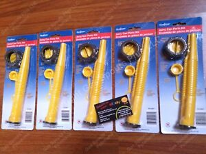 5 pk Scepter Gas Can Spouts Vent Kit Moeller Midwest American Igloo Eagle Reda