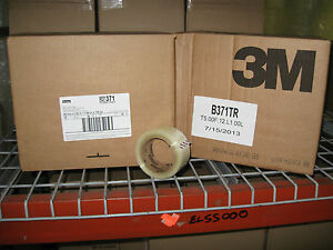 72 Rolls 3m 371 Scotch 2 Clear Packaging Carton Sealing Tape W Free Shipping
