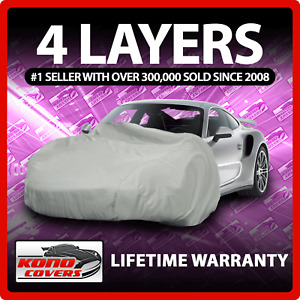 4 Layer Car Cover Soft Breathable Dust Proof Sun Uv Water Indoor Outdoor 4777