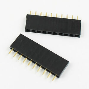 500pcs 2 54mm Pitch 10 Pin Female Single Row Straight Header Strip Ph 8 5mm