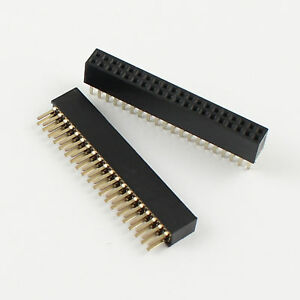 100pcs 1 27mm Pitch 2x20 Pin 40 Pin Female Double Row Straigh Pin Header Strip