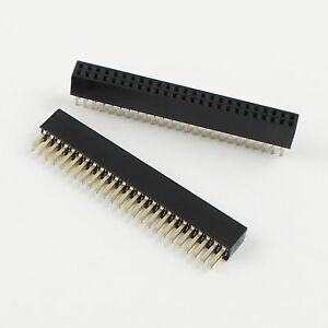 100 Pcs 1 27mm Pitch 2x25 Pin 50 Pin Female Double Row Straigh Pin Header Strip