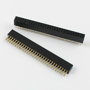 100pcs 1 27mm Pitch 2x30 Pin 60 Pin Female Double Row Straigh Pin Header Strip