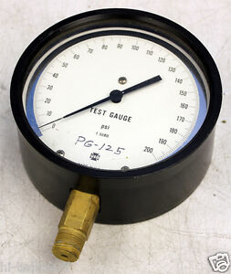Ametek Us Gauge Pg 125 Psi Test Gauge 0 200 Psi Usg