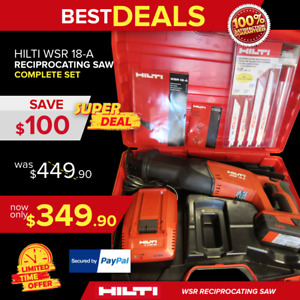 Hilti Wsr 18 a Reciprocating Saw In Mint Condition Very Strong Fast Shipping