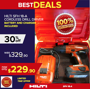 Hilti Sfh 18 a Cordless Hammer Drill Preowned In Good Condition Fast Shipping