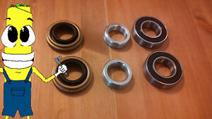 Oldsmobile Jetstar 88 Rear Wheel Bearings Seals Set Pair 1964 1967