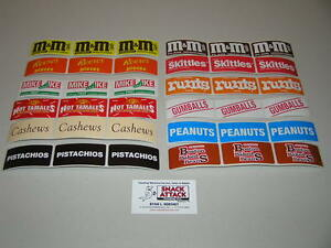 36 Vendstar 3000 Vending Machine Rectangle Candy Label Stickers Free Ship
