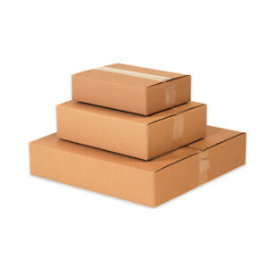 10 Flat Corrugated Boxes 20 X 20 X 4 Cardboard Shipping Box Moving Cartons