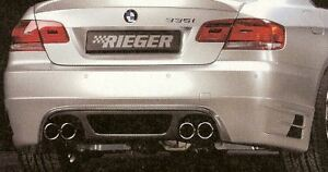 Bmw Genuine Rieger E92 E93 335i Coupe Convertible 2007 10 Carbon Look Rear Apron