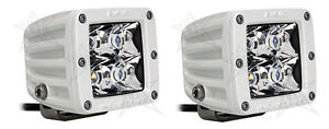 Rigid Industries 60221 Dually Series White Marine Led Spot Light Set Of 2