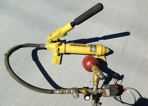 Enerpac P18 Hydraulic Hand Pump With Setra 207 Hydac Ss 4tf2 05 Ss bvm8