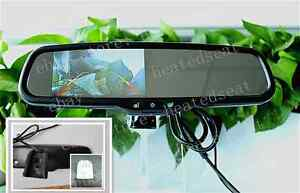 Rear View Mirror With 4 3 camera Display fits Ford toyota nissan dodge chevrolet