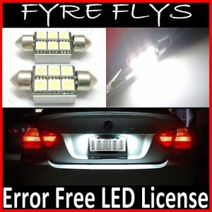 White Canbus Error Free Led License Plate Lights 6418 C5w 36mm Festoon Tag X6