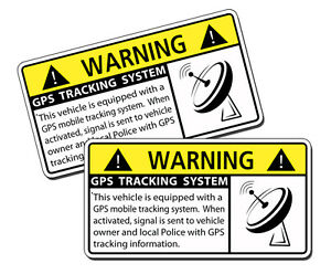 Gps Tracking Anti Theft Vehicle Security System Warning Sticker Alarm Car Truck