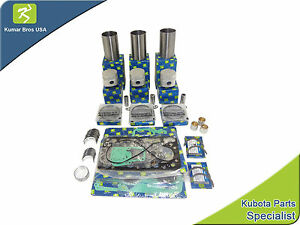 New Kubota Compact Tractor Overhaul Kit Std With Liner B5200 B7100