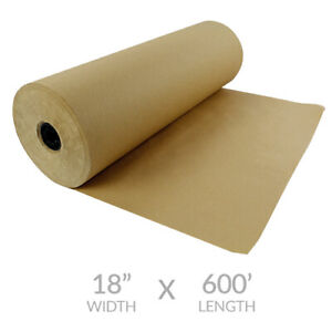 Kraft Paper Roll 600 x18 50lb Strength Brown Shipping Wrapping Cushioning Fill