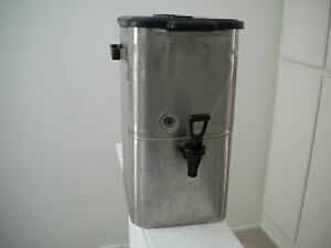 Curtis 4 Gallon Stainless Steel Ice Tea Dispenser